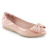 Růžový IVY-09 balerínky ploché dámské boty s perly