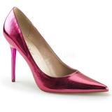 Růžový Kovový 10 cm CLASSIQUE-20 Lodičky Dámské Stiletto Podpatků