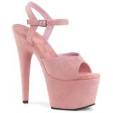 Růžový Koženka 18 cm ADORE-709FS dámské sandály na podpatku