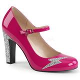 Růžový Lakovaná 10 cm QUEEN-02 velké velikosti lodičky obuv