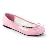 Růžový Lakovaná ANNA-01 velké velikosti baleríny boty