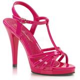 Růžový Lakované 12 cm FLAIR-420 sandály vysoký podpatek