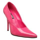 Růžový Lakované 12 cm MILAN-01 Lodičky Dámské Stiletto Podpatků