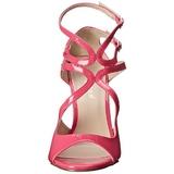 Růžový Lakované 13 cm AMUSE-15 Večerní Sandály s podpatkem