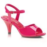 Růžový Lakované 8 cm BELLE-309 sandály vysoký podpatek