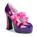 Růžový Nachový 13 cm KITTY-32 dámské boty na vysokém podpatku