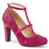 Růžový Třpyt 10 cm QUEEN-01 velké velikosti lodičky obuv