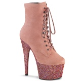 Růžový glitter 18 cm ADORE-1020FSMG kotnikové kozačky pro tanec na tyči