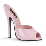 Růžový pantofle 15 cm DOMINA-101 fetiš pantofle na podpatku