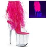 Růžový peří marabu 20 cm FLAMINGO-1017MFF Boty pro tanec na tyči