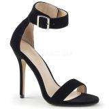 Samet 13 cm Pleaser AMUSE-10 dámské sandály na podpatku