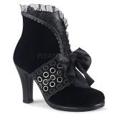 Samet 9,5 cm GLAM-110 Viktoriánské kotníkové boty