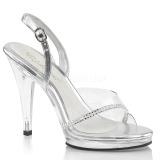 Strass kamen 11,5 cm FLAIR-456 dámské sandály na podpatku