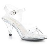 Strass kamen 8 cm BELLE-308SD dámské sandály na podpatku