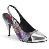 Stříbro 10 cm DREAM-405 Muži botách na vysokém podpatku