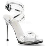Stříbro 11,5 cm CHIC-05 Platformě Sandály Podpatky