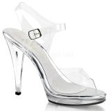 Stříbro 11,5 cm FLAIR-408 sandály vysoký podpatek