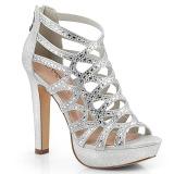 Stříbro 11,5 cm Pleaser SELENE-24 Sandály na vysokém podpatku