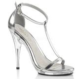 Stříbro 12,5 cm Fabulicious POISE-526 dámské sandály na podpatku