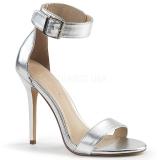 Stříbro 13 cm AMUSE-10 Muži botách na vysokém podpatku