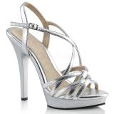 Stříbro 13 cm Fabulicious LIP-113 dámské sandály na podpatku
