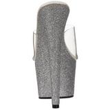 Stříbro 18 cm Pleaser ADORE-701SDG Lesk Platformě Vysoké Podpatky