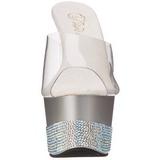 Stříbro Drahokamů 18 cm Pleaser ADORE-701-3 Vysoké Podpatky Platformě