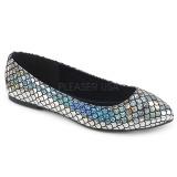 Stříbro MERMAID-21 balerínky ploché dámské boty