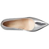 Stříbro Matná 10 cm CLASSIQUE-20 Lodičky na jehlovém podpatku