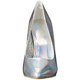 Stříbro Matná 13 cm AMUSE-20 Lodičky na jehlovém podpatku