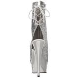 Stříbro Platformě Kotníkové Kozačky 16 cm Pleaser DELIGHT-1018G