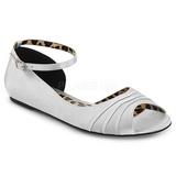 Stříbro Satén ANNA-03 velké velikosti baleríny boty