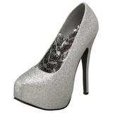 Stříbro Třpyt 14,5 cm Burlesque TEEZE-31G Platform Lodičky Dámské