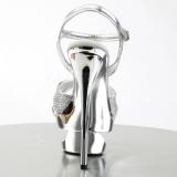 Stříbro Třpyt 16,5 cm Pleaser ECLIPSE-619G Stilettos Jehlové Podpatky