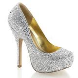Stříbro Třpytivé Kamínky 13,5 cm FELICITY-20 dámské boty na podpatku