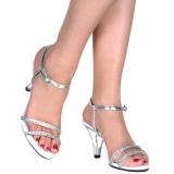 Stříbro strass kamen 8 cm BELLE-316 Muži botách na vysokém podpatku
