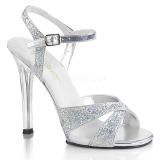 Stříbro třpyt 11,5 cm Fabulicious GALA-19 dámské sandály na podpatku