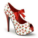 Třešeň Bílá 14,5 cm TEEZE-25-3 dámské boty na vysokém podpatku