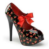 Třešeň Černý 14,5 cm Burlesque TEEZE-25-3 dámské boty na vysokém podpatku