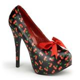 Třešeň Černý 14,5 cm TEEZE-12-6 dámské boty na vysokém podpatku