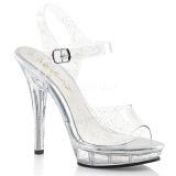 Třpyt 13 cm Fabulicious LIP-108MMG dámské sandály na podpatku