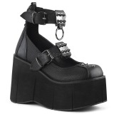 Vegan 11,5 cm Demonia KERA-12 platformě gotické boty