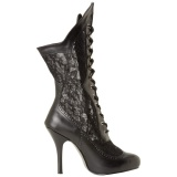 Vegan 7,5 cm VICTORIAN-116X Viktoriánské kotníkové boty na široká lýtka