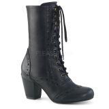 Vegan 7,5 cm VIVIKA-200 Viktoriánské kotníkové boty