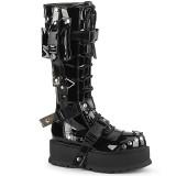 Vegan černé 5 cm SLACKER-260 kozačky cyberpunk na platformy