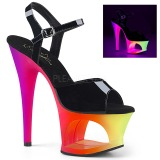 Vícebarevný 18 cm MOON-709UV Sandály Neon Platformě