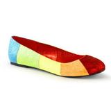 Vícebarevný STAR-18G třpyt dámské baleríny obuv