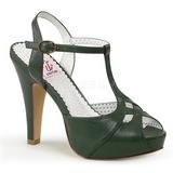Zelený 11,5 cm retro vintage BETTIE-23 Večerní Sandály s podpatkem
