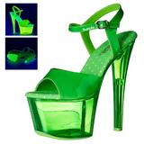 Zelený 18 cm SKY-309UVT Neon Platformě Sandály Podpatky