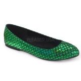 Zelený MERMAID-21 balerínky ploché dámské boty